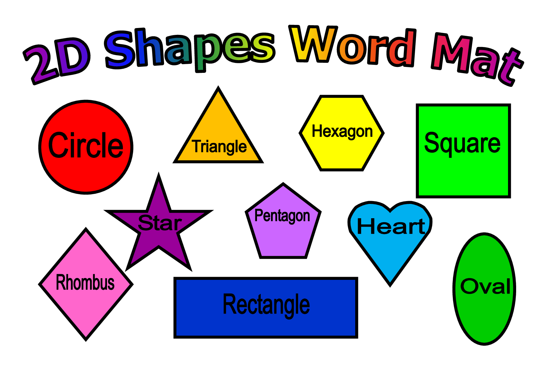 2d Shapes Clipart