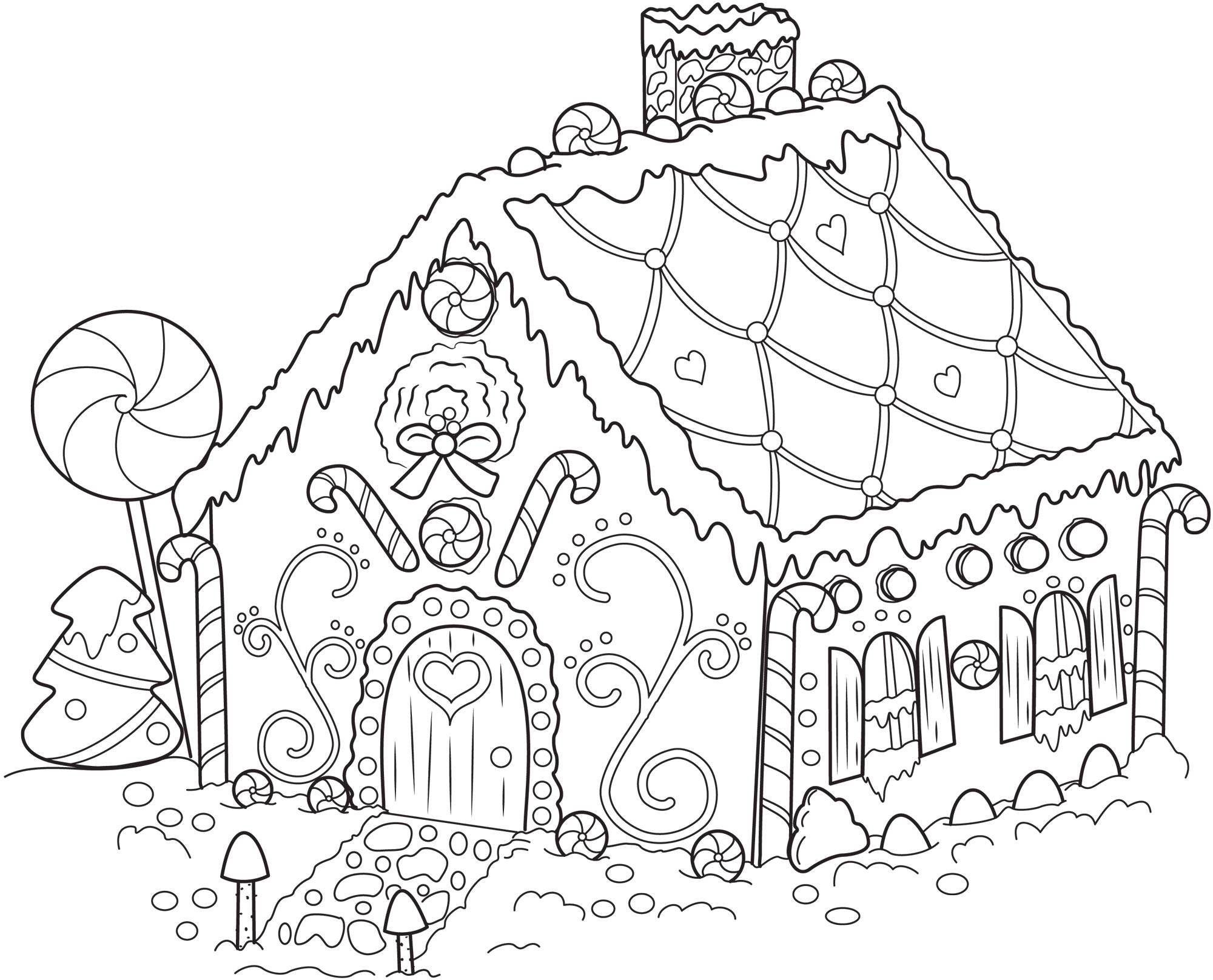 Blank Gingerbread House Clipart