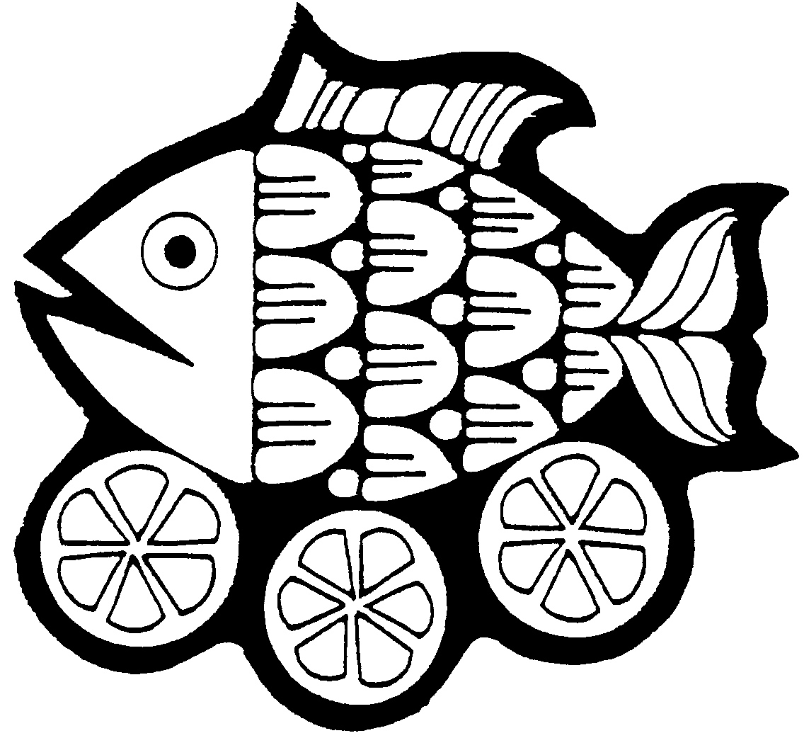 Fish Fry Plate Clipart