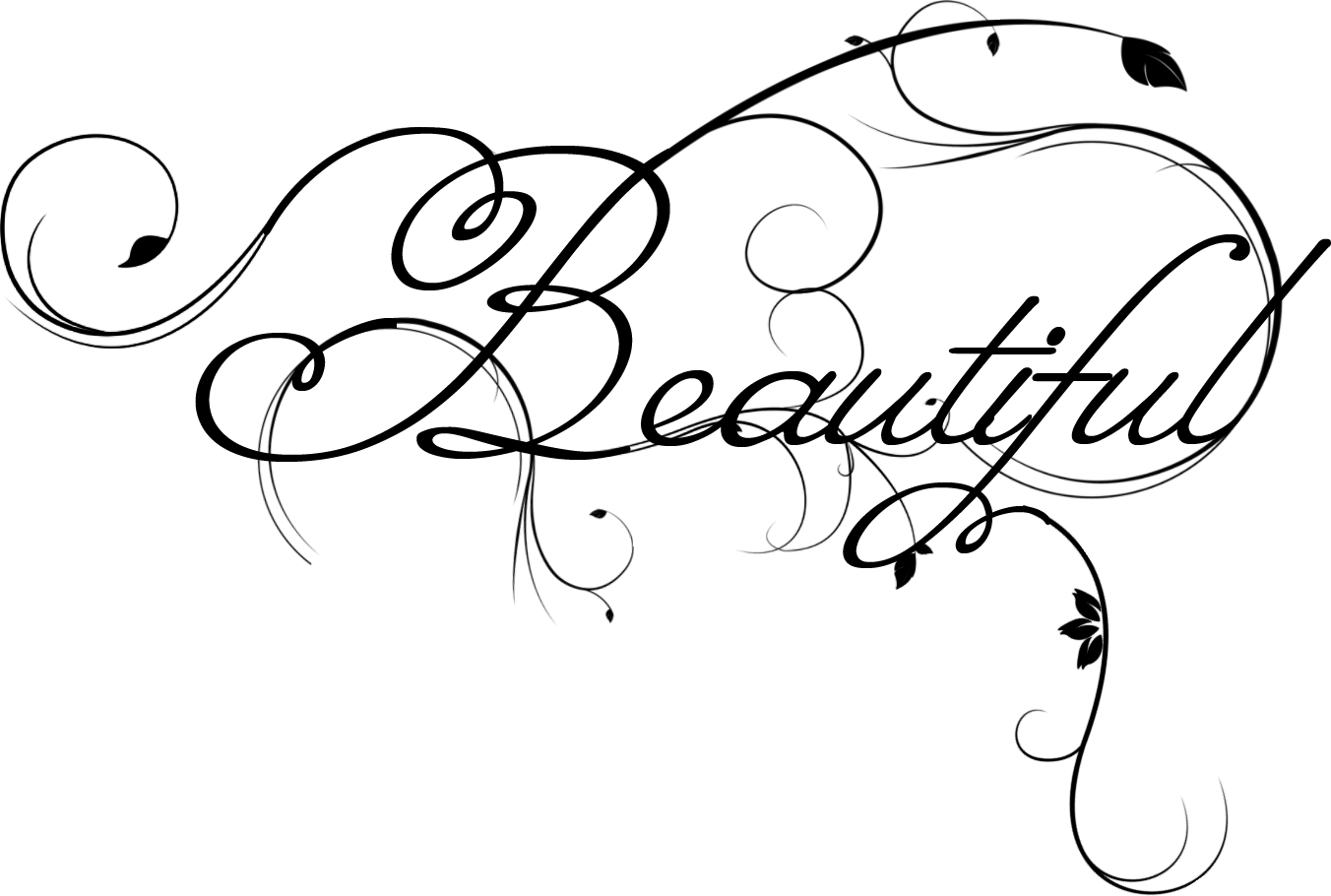 Beautiful Word Clipart