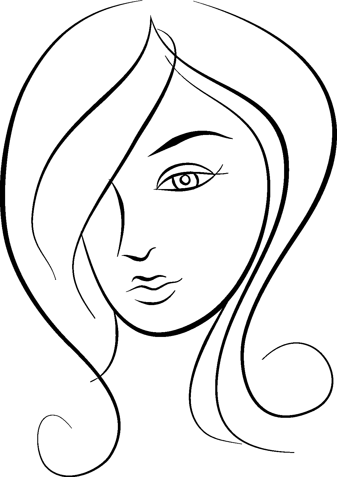 Free Female Face Cliparts Download Free Clip Art Free