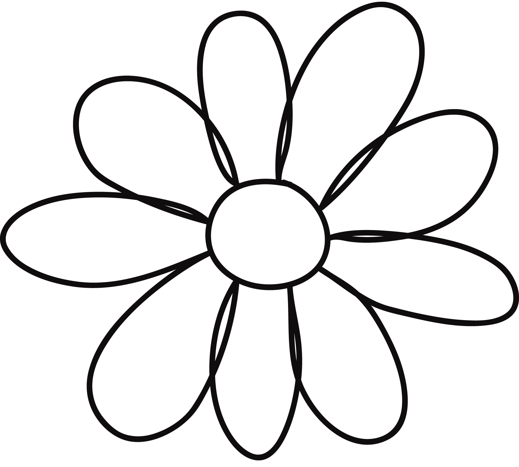 Free 6 Petal Daisy Cliparts Download Free Clip Art Free