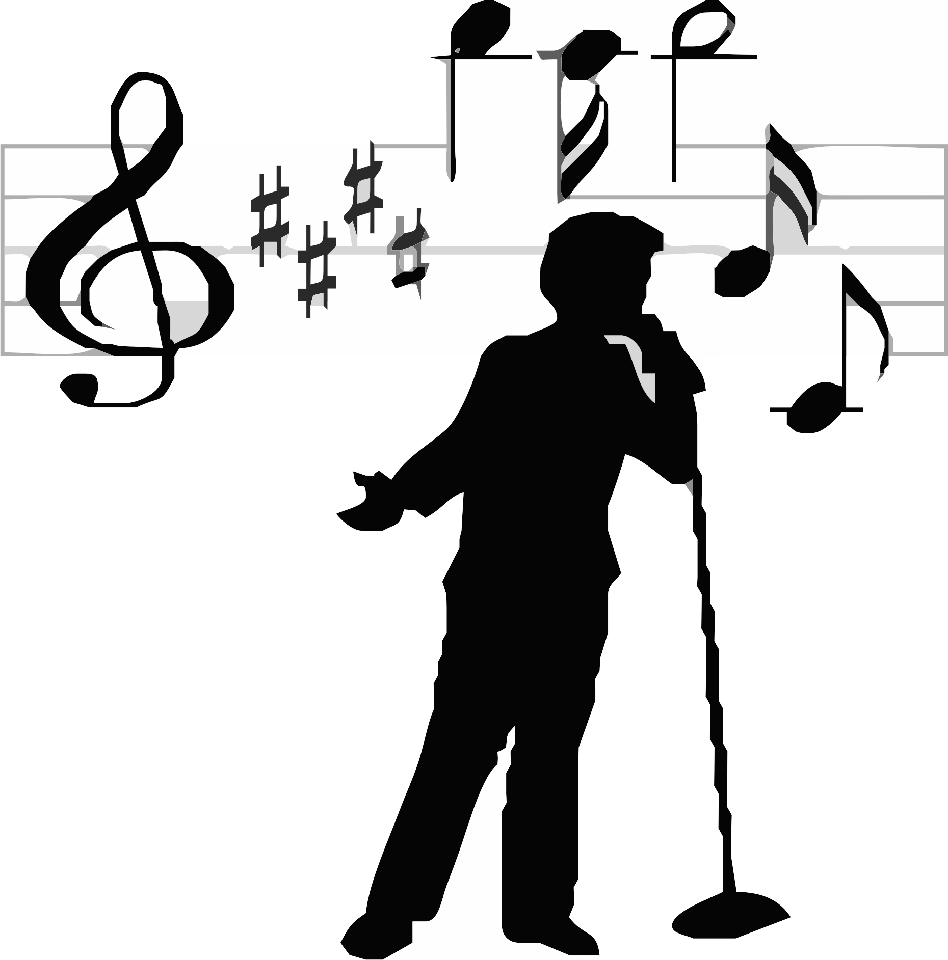 Free Singer Silhouette Cliparts Download Free Clip Art
