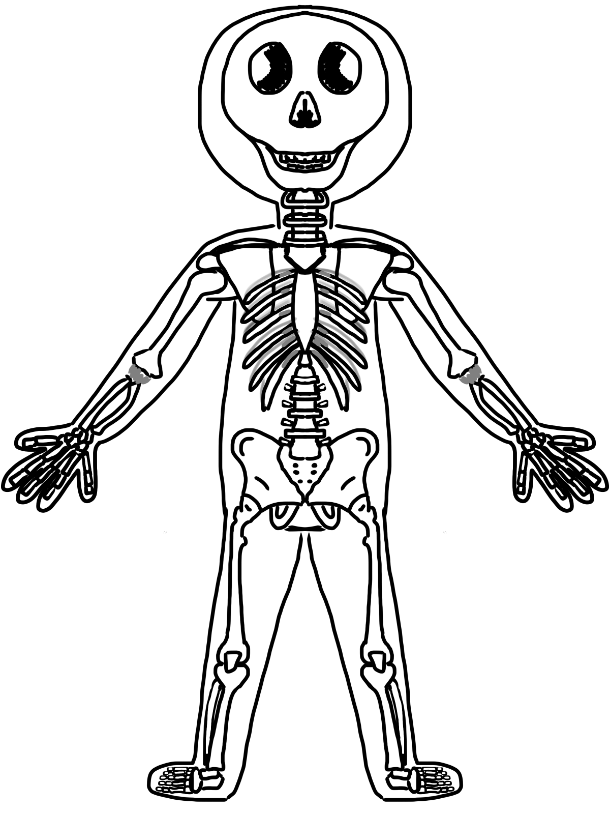 Muscle Clipart For Kids Black And White