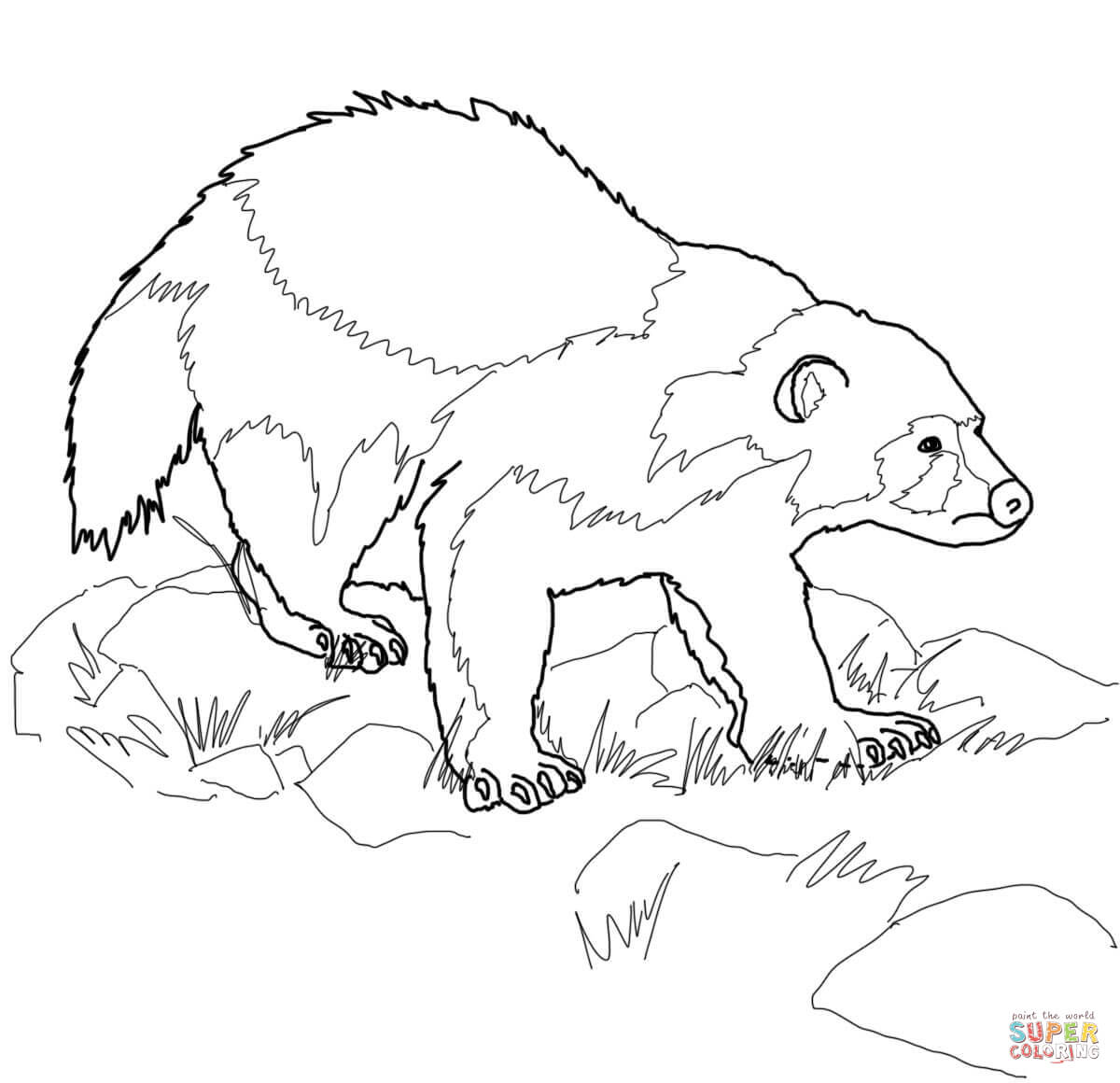 Wolverine Clipart Animal Outline
