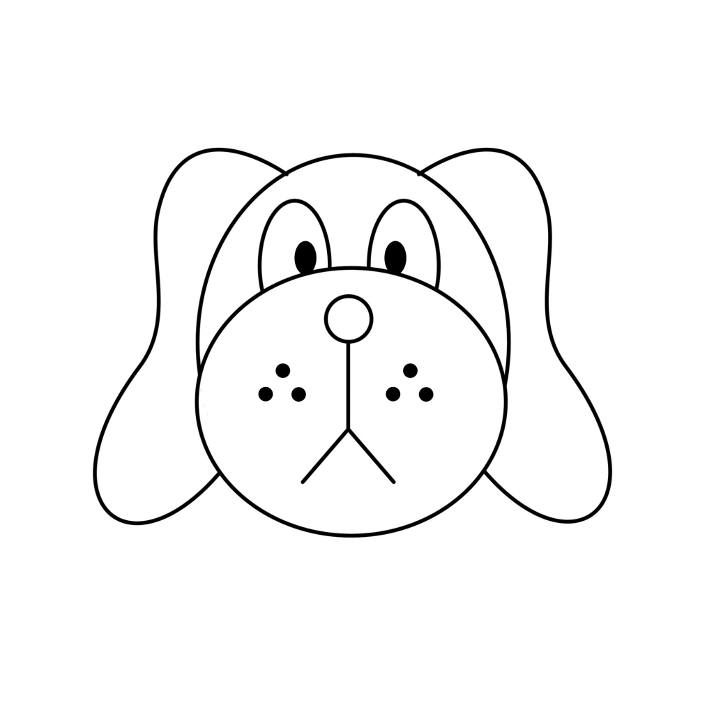 Easy To Draw Clipart Simple Running Dog