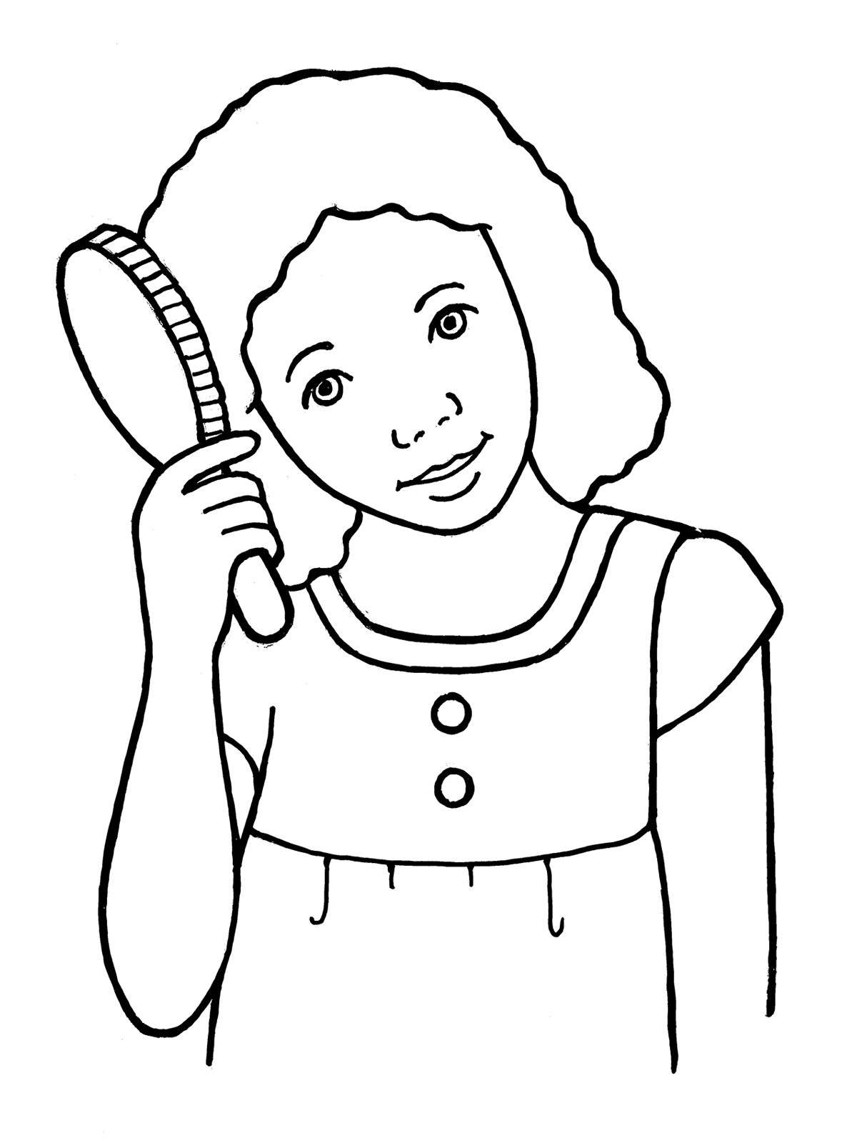 Brush Hair Clipart Black And White