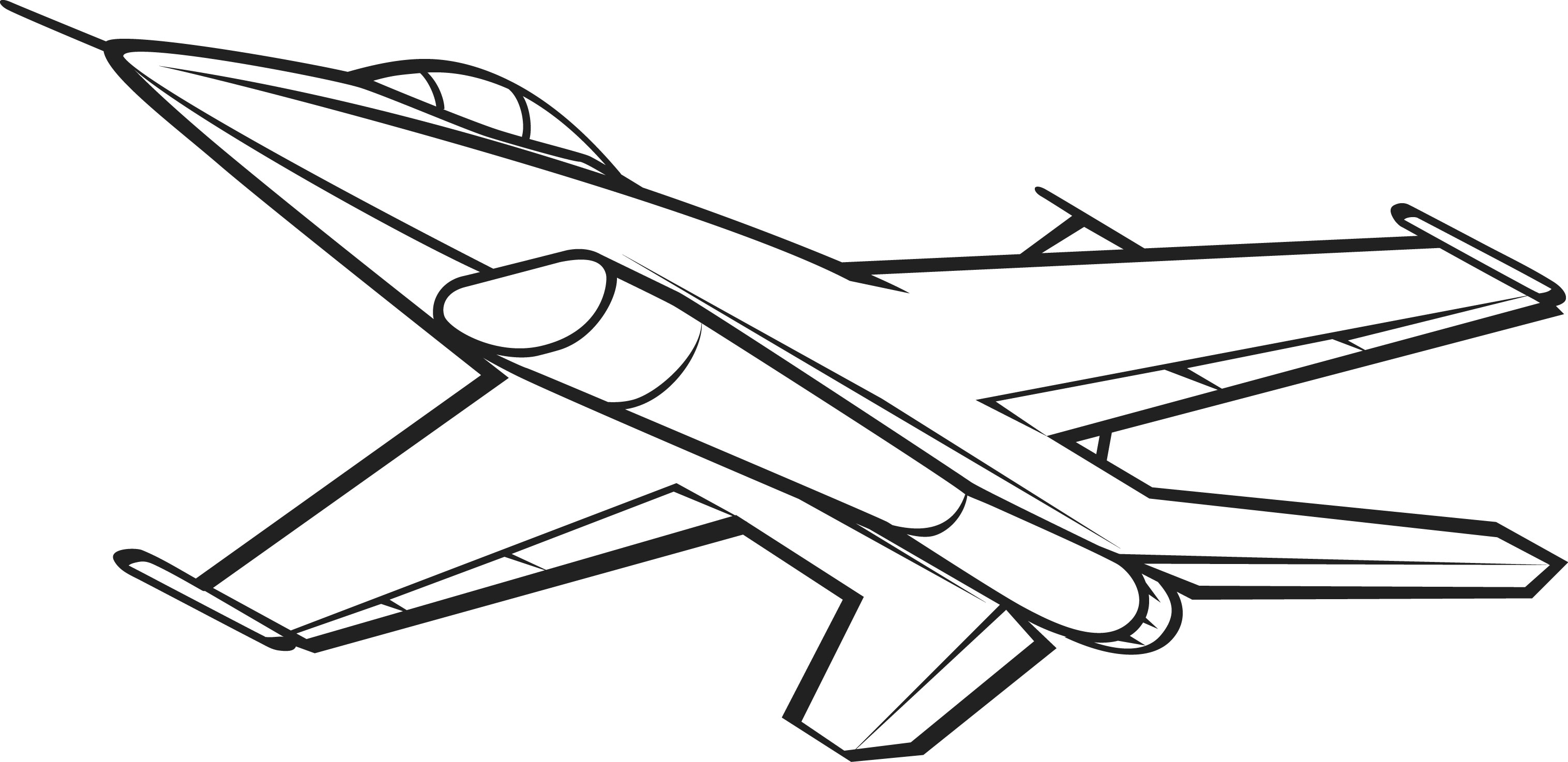Jet Clipart Black And White