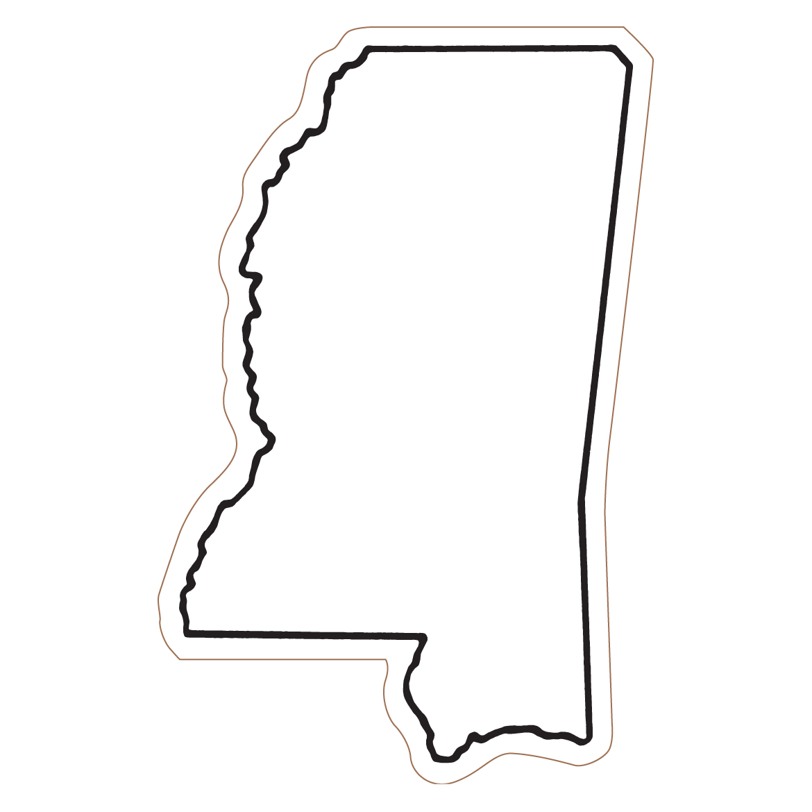 Mississippi Outline Clipart