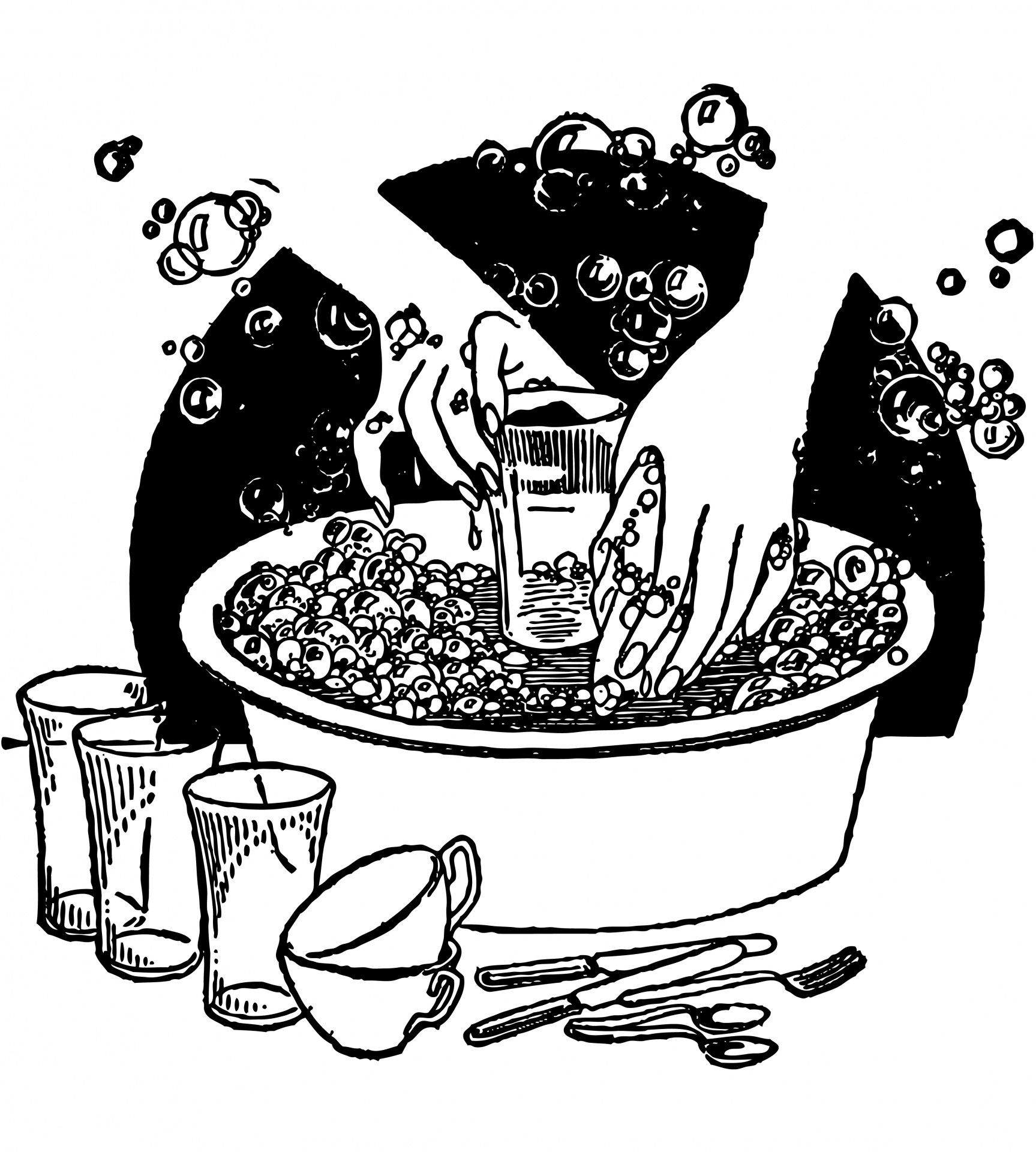 Free Cleaning Dishes Cliparts, Download Free Clip Art ... (1727 x 1920 Pixel)