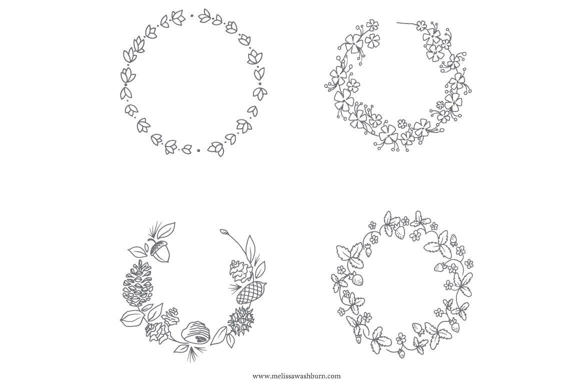 Free Botanical Wreath Cliparts Download Free Clip Art