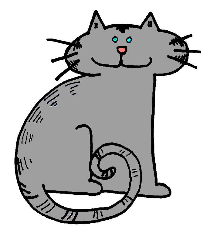 Free Gray Cat Cliparts, Download Free Gray Cat Cliparts ... (702 x 780 Pixel)