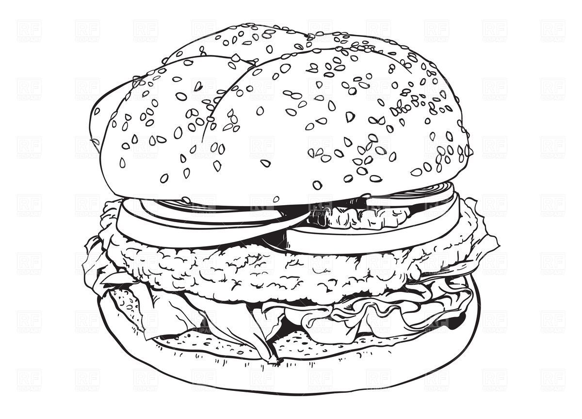 Free Hamburger Outline Cliparts Download Free Clip Art