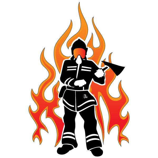 fireman silhouette clip art # 32