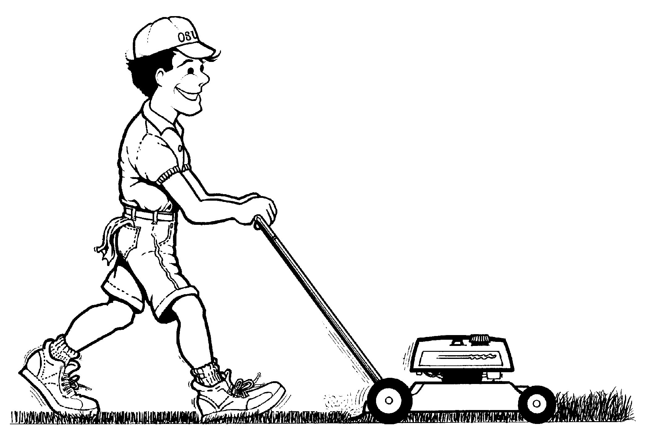 Free Man Mowing Cliparts Download Free Clip Art Free