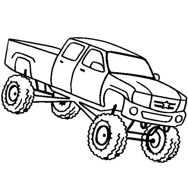 drawings of lifted trucks - Clip Art Library