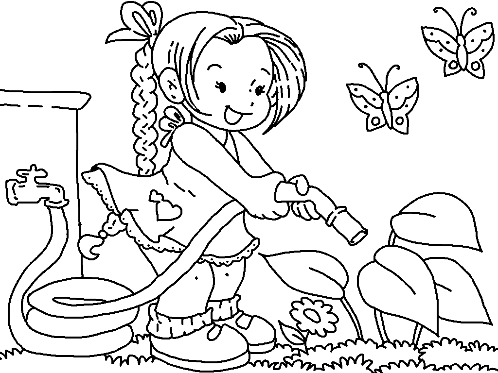 Garden Clipart Preschool Black And White