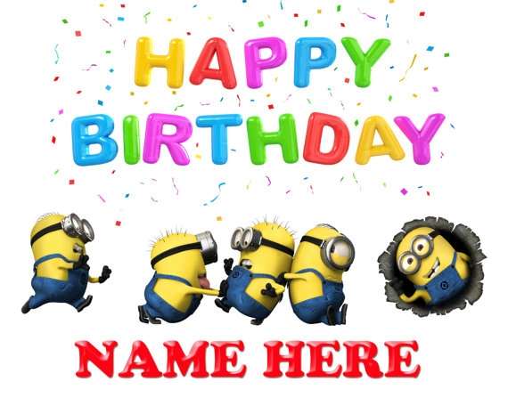 happy birthday kids minions - Clip Art Library (570 x 456 Pixel)
