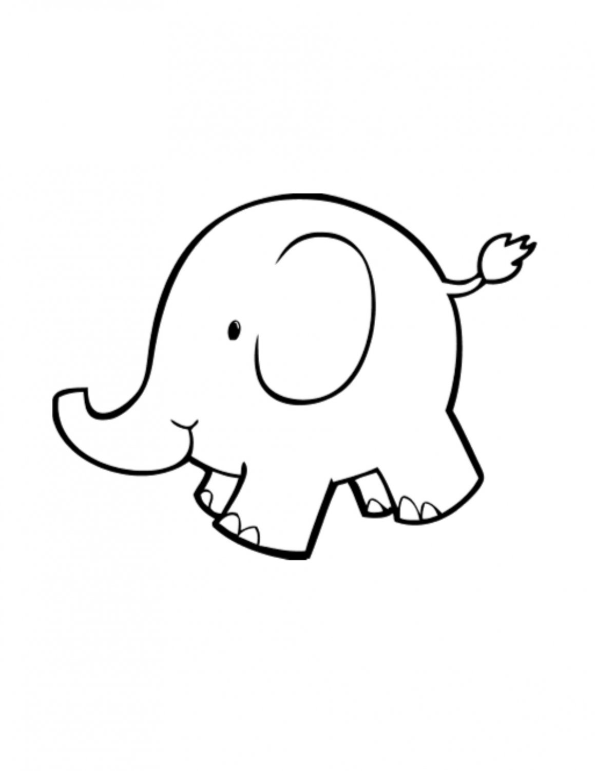 Free Elephant Outline Cliparts Download Free Clip Art