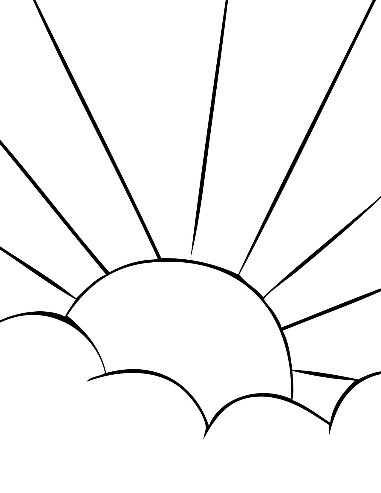 Free Sunshine Outline Cliparts Download Free Clip Art