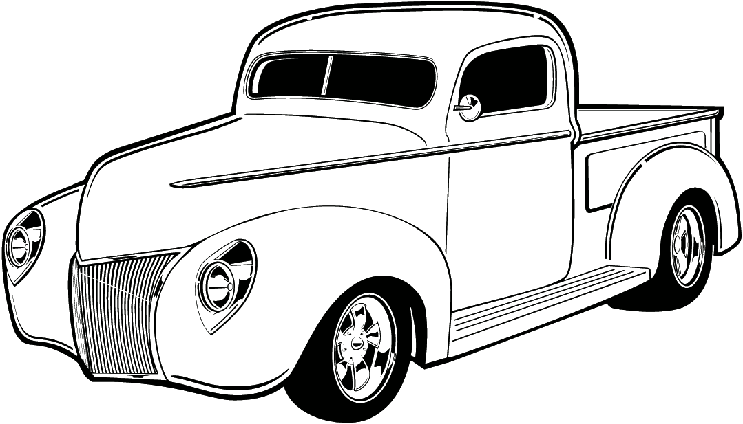 Computer Line Drawings Of Classic Cars