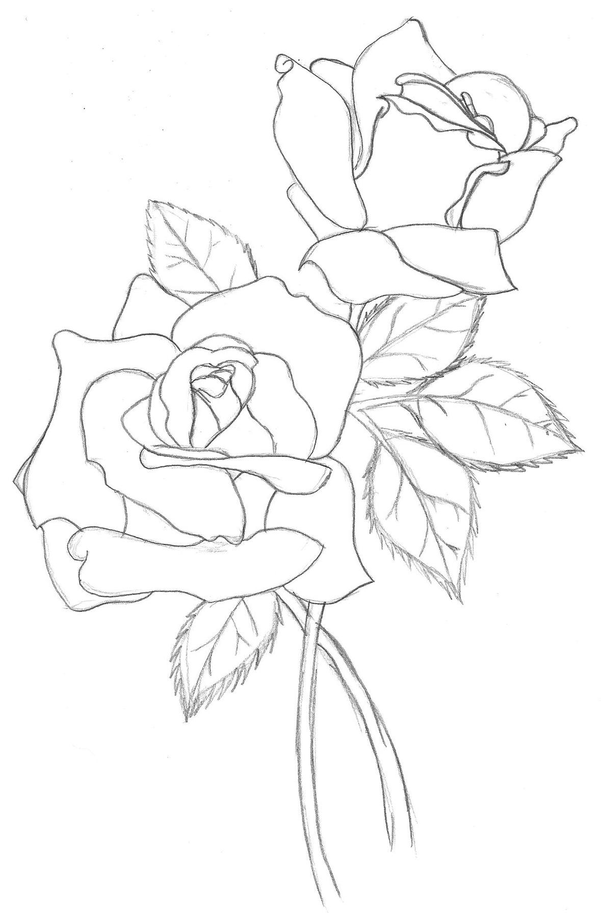 Free Traditional Rose Cliparts Download Free Clip Art