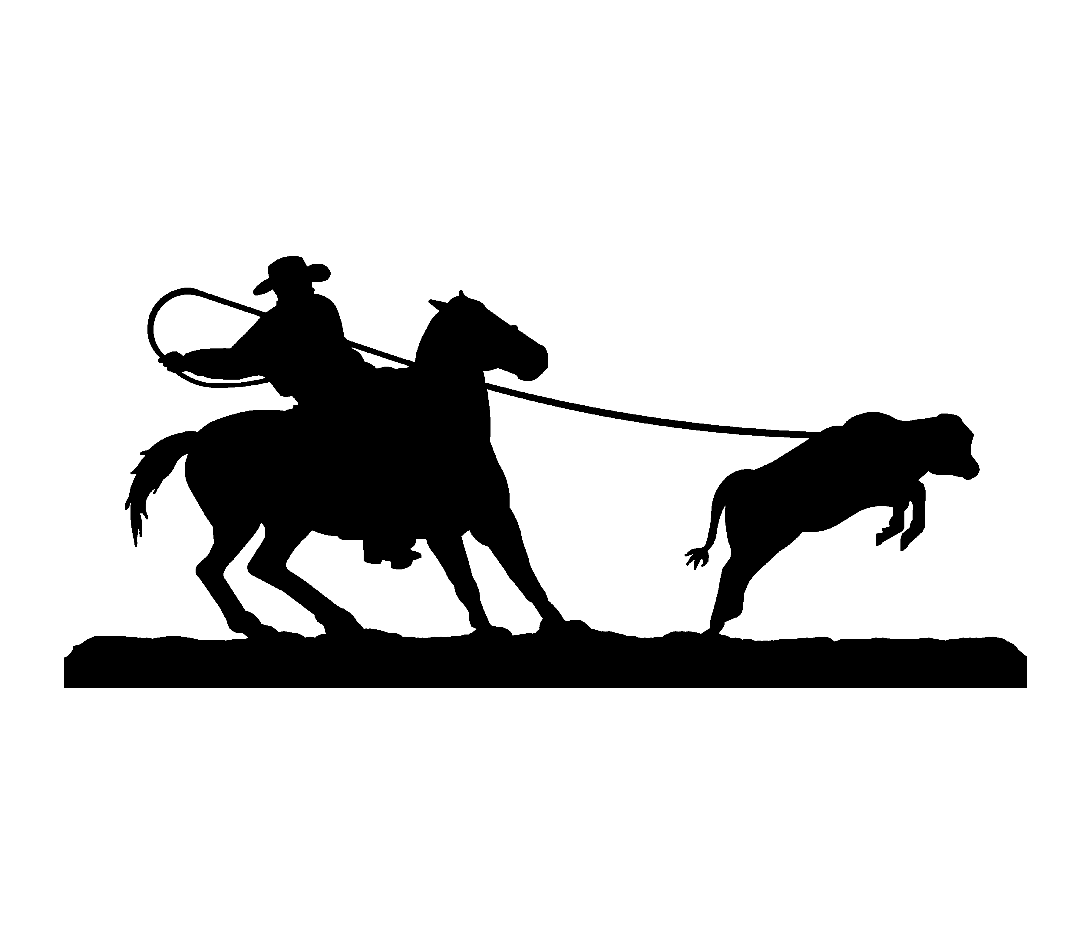 Cowboy Silhouette Clip Art