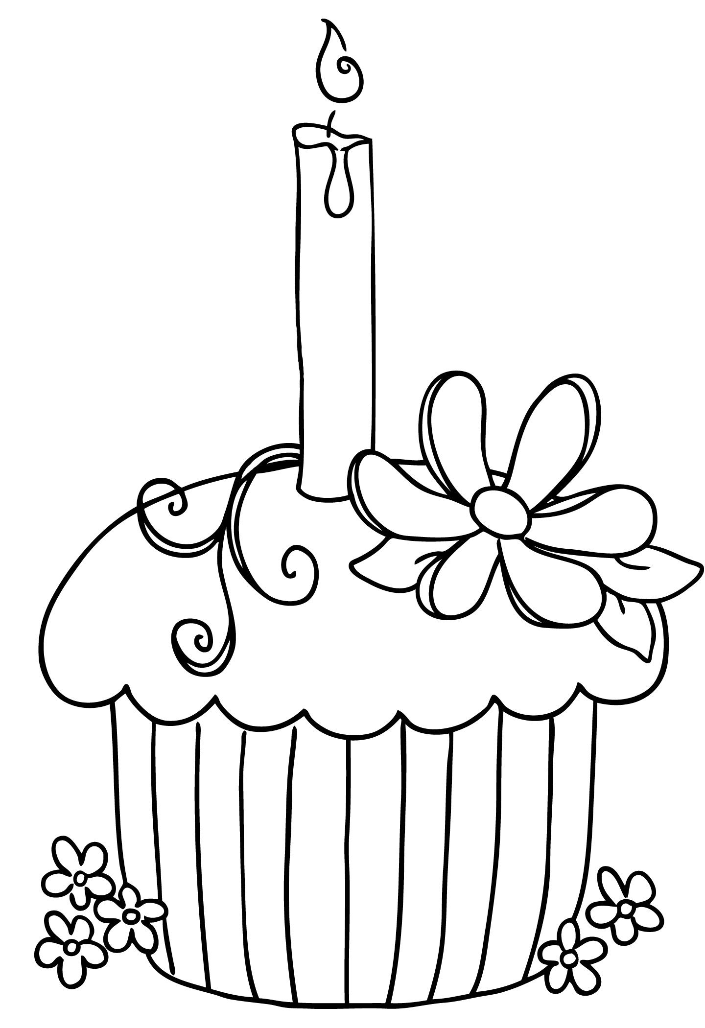 Free Birthday Cake Clip Art Black And White Download Free