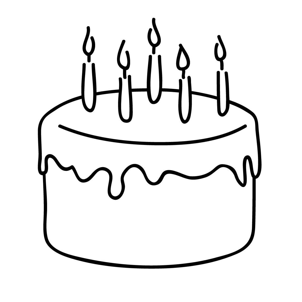 Free Birthday Cake Clip Art Black And White Download Free