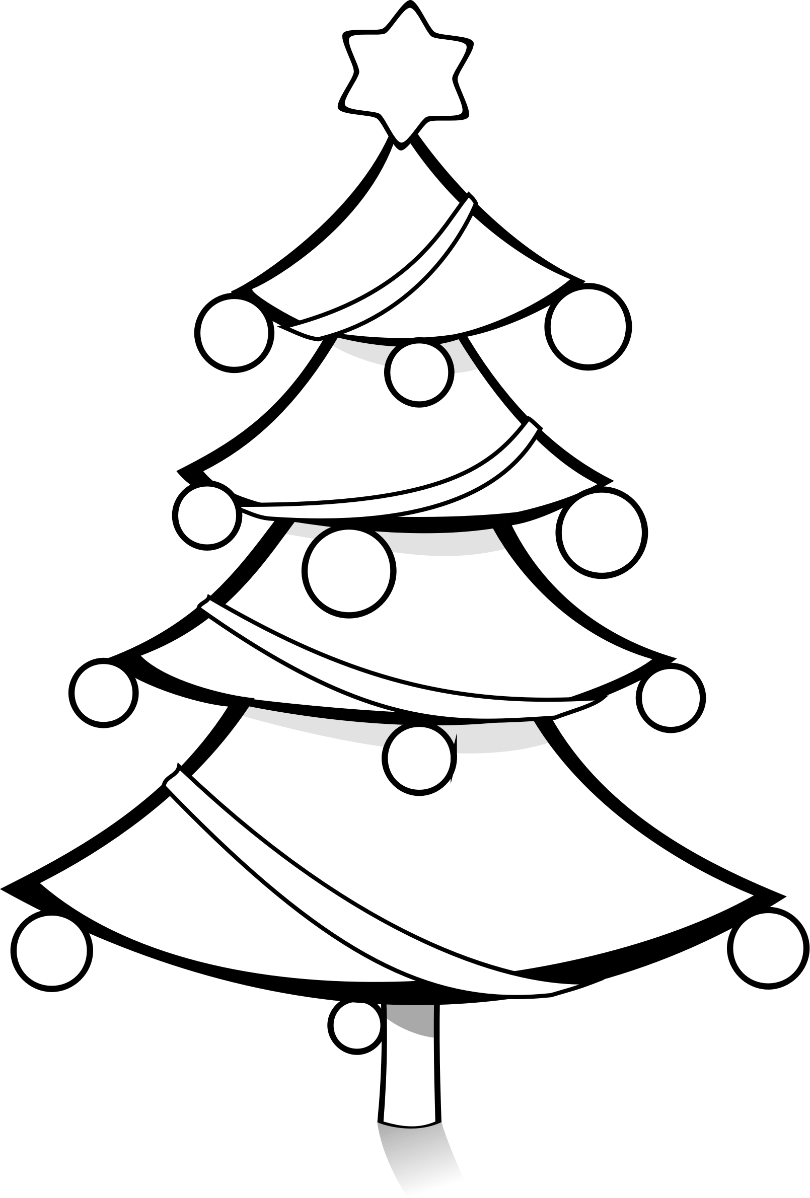 Free Christmas Tree Clip Art Black And White Download