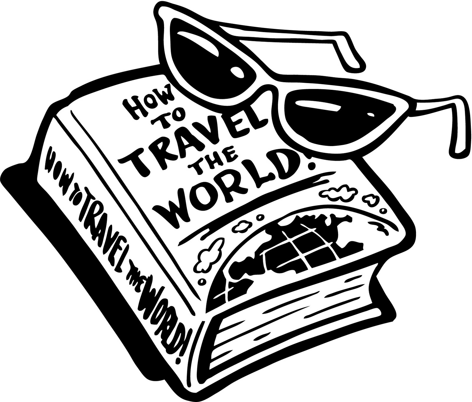 Clip Art Black And White Travel Clipart