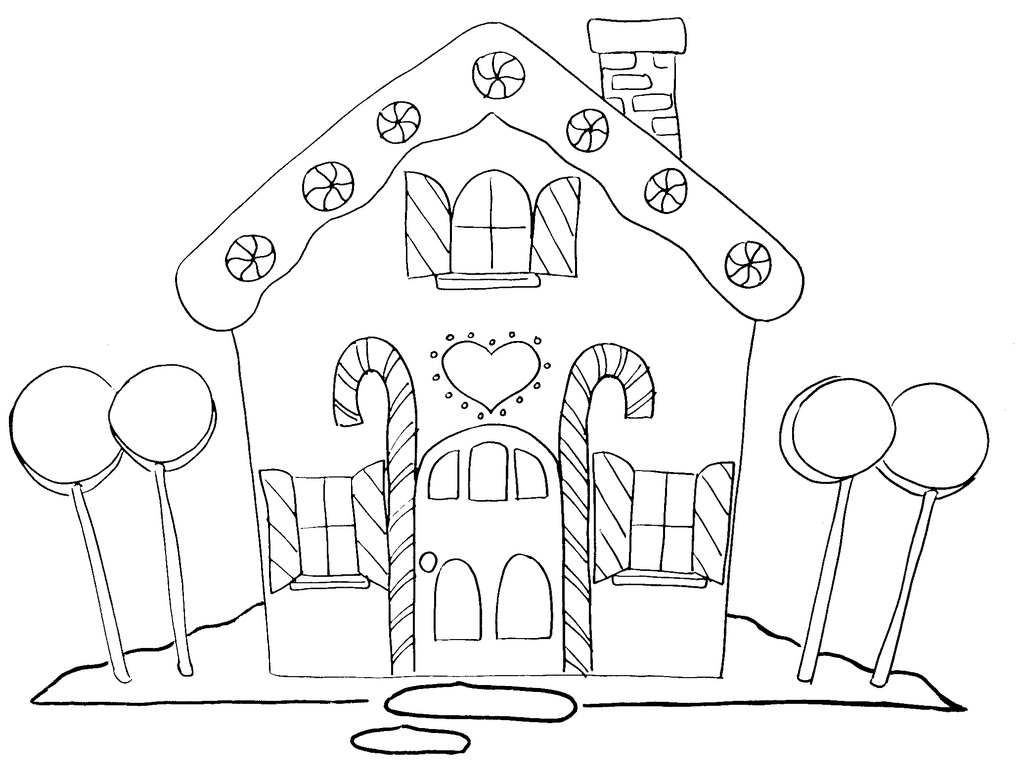 Black Amp White Clipart Gingerbread