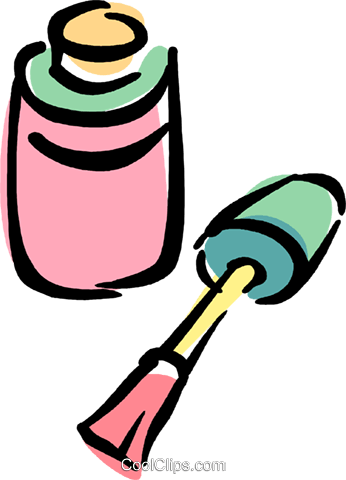 Clipart Ilration Of A Bottle Pink Nail Polish
