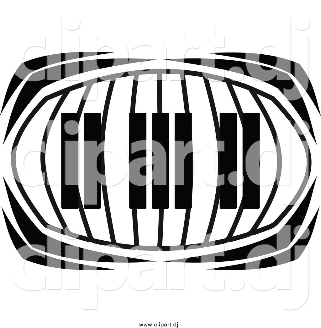 Vector Clipart Of A Keyboard In Black And White By