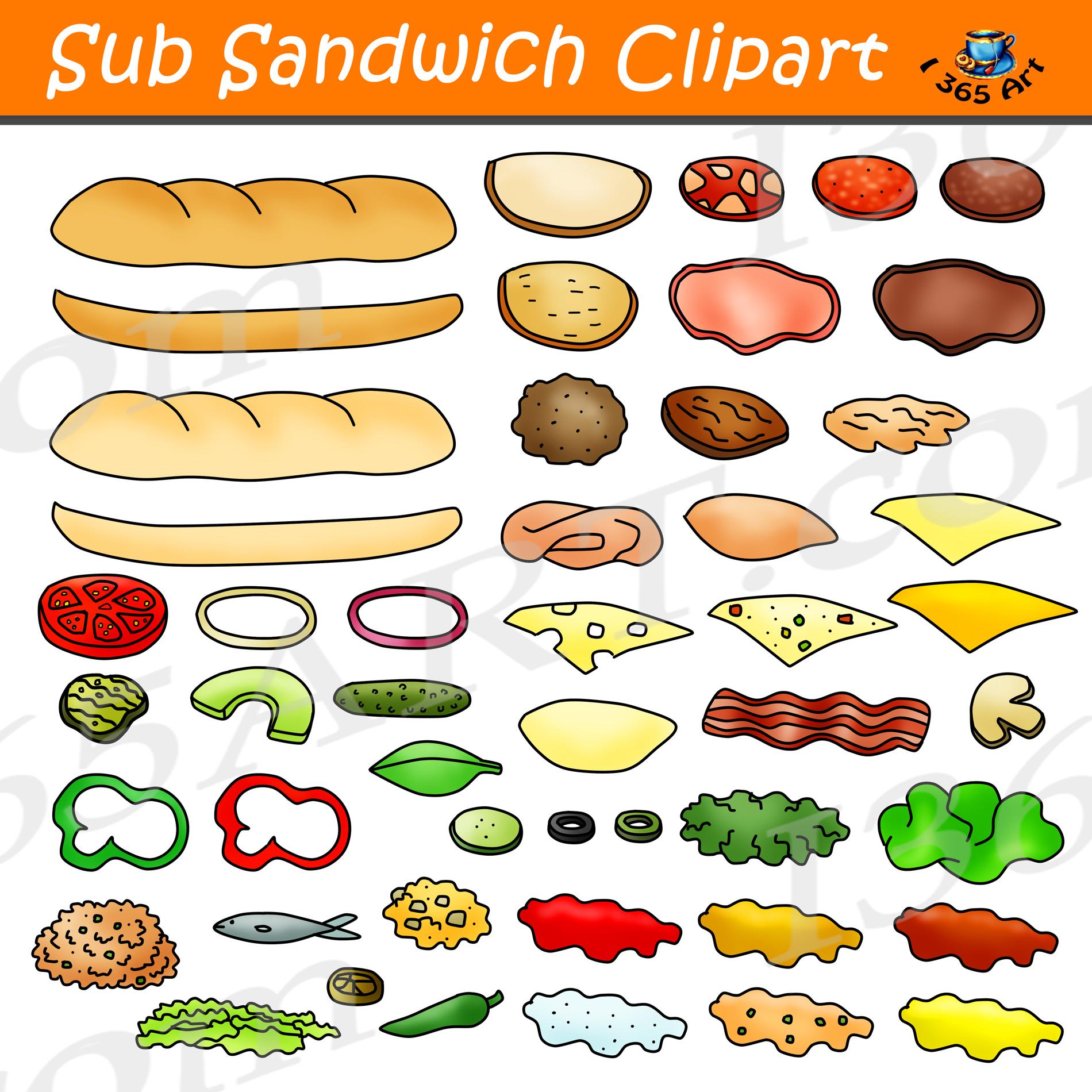 Build A Sub Sandwich Clipart Set