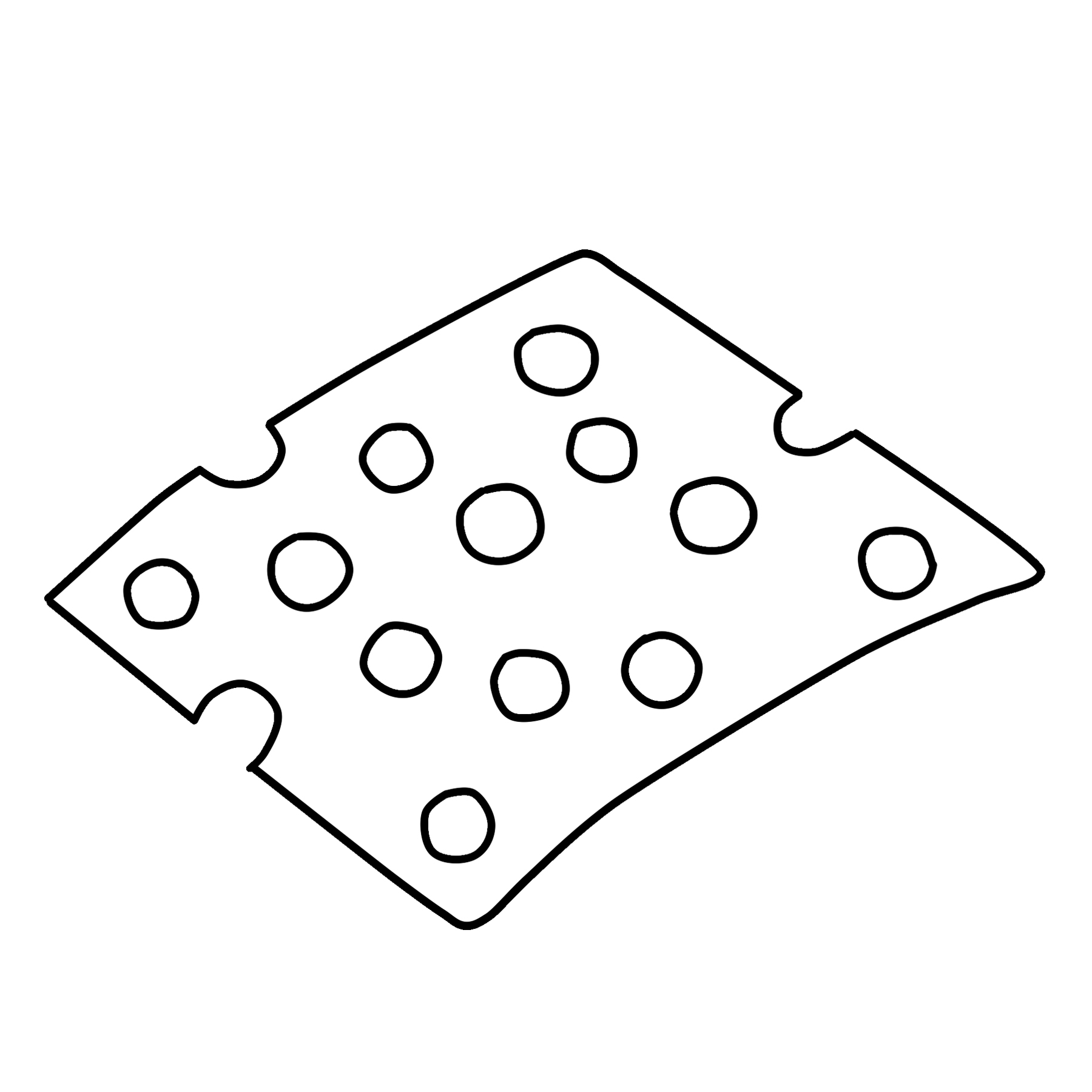 Swiss Cheese Clipart Download Graphic
