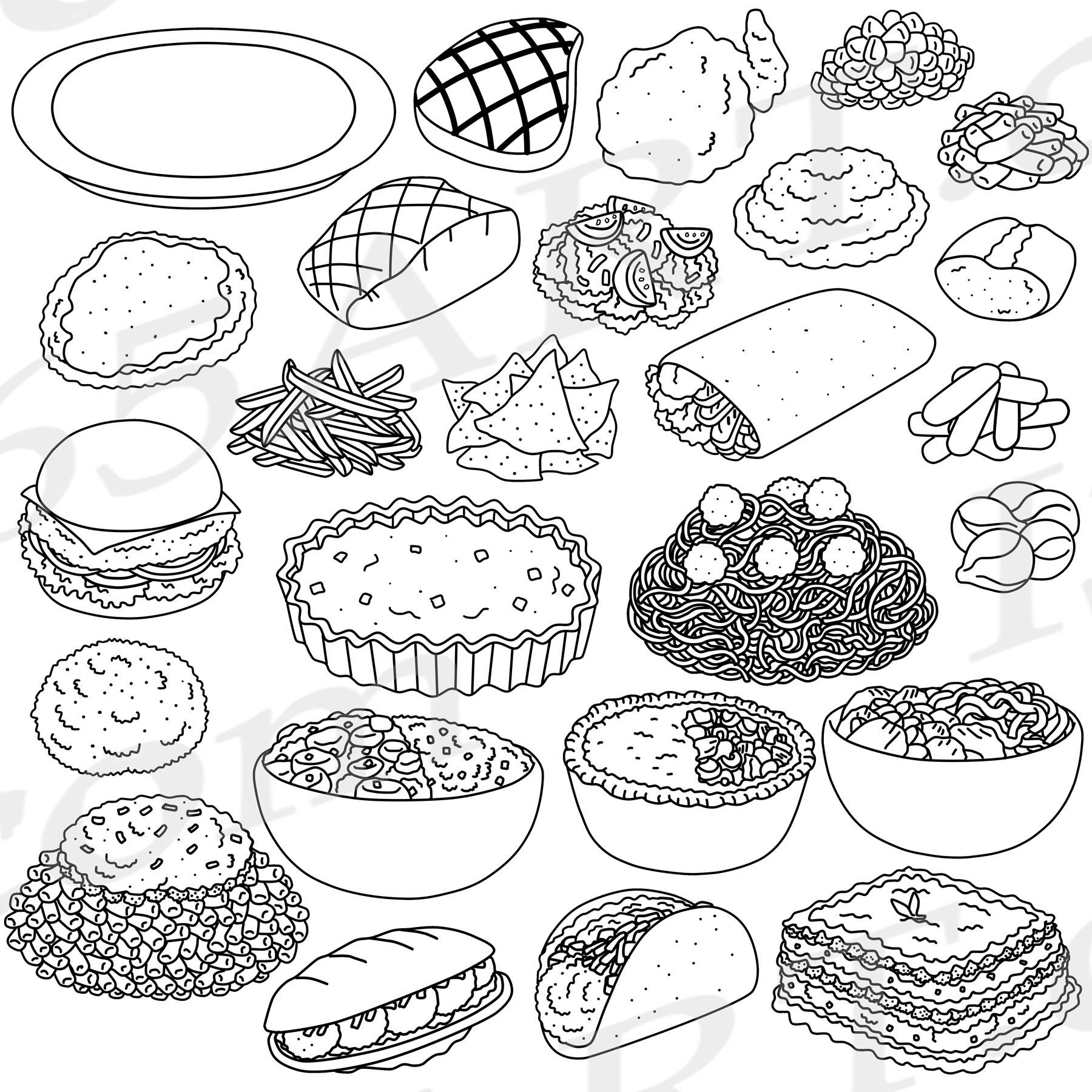 Dinner Foods Clipart