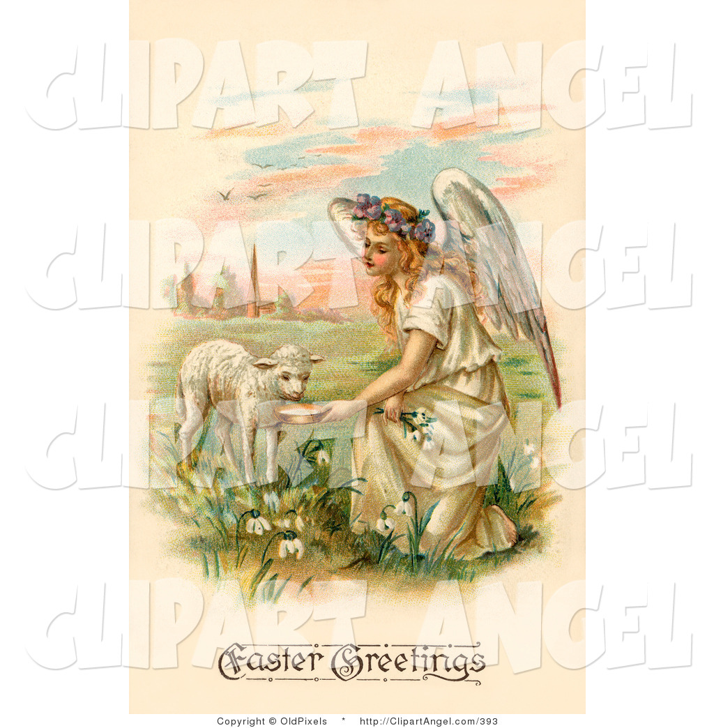 Royalty Free Victorian Stock Angel Designs