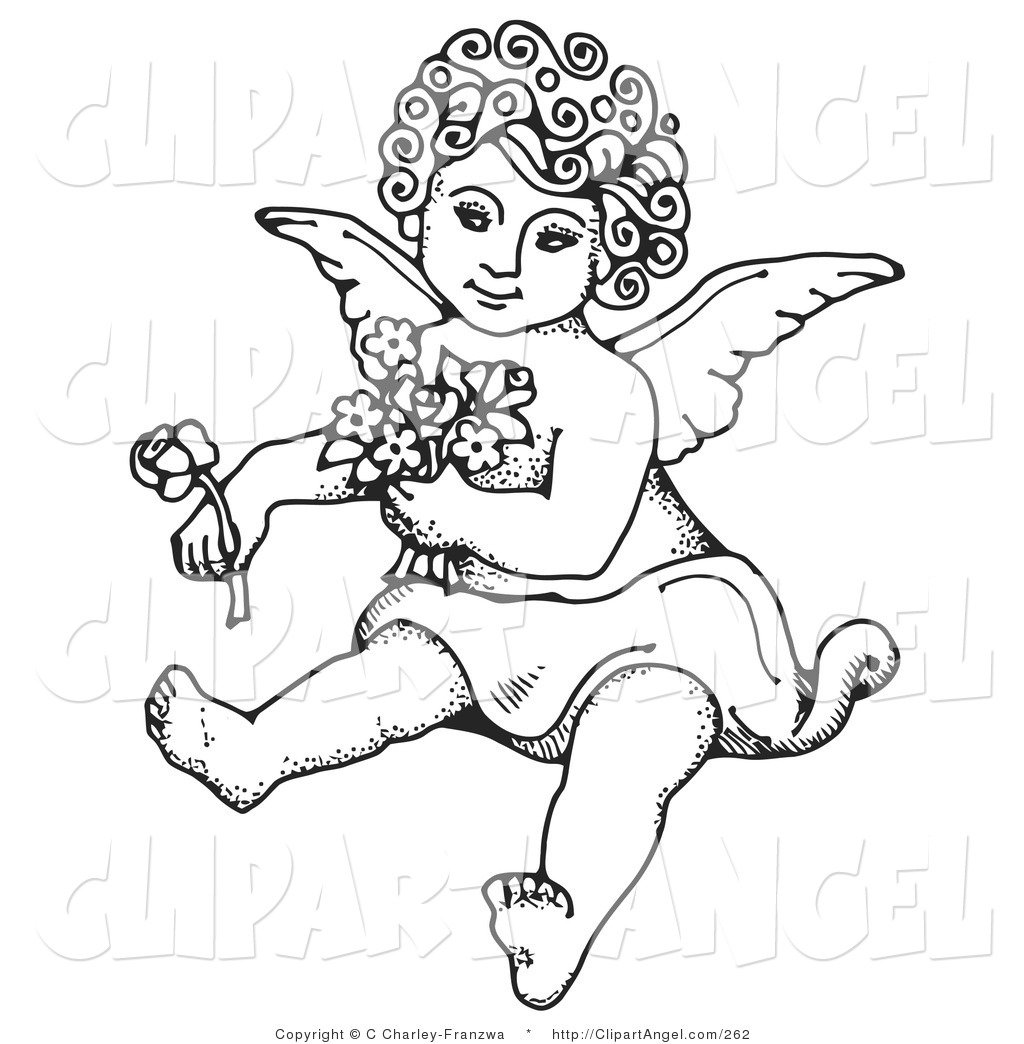 Illustration Vector Of A Coloring Page Sweet Curly Haired