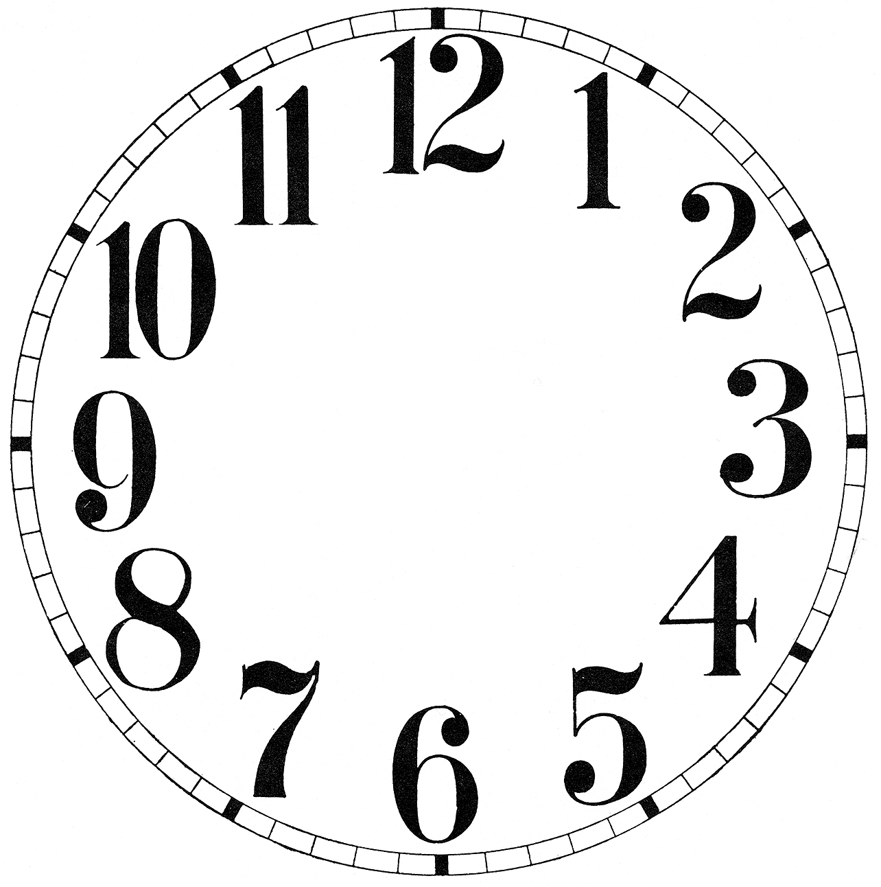 Library Of Clock Numbers Svg Free Library Files