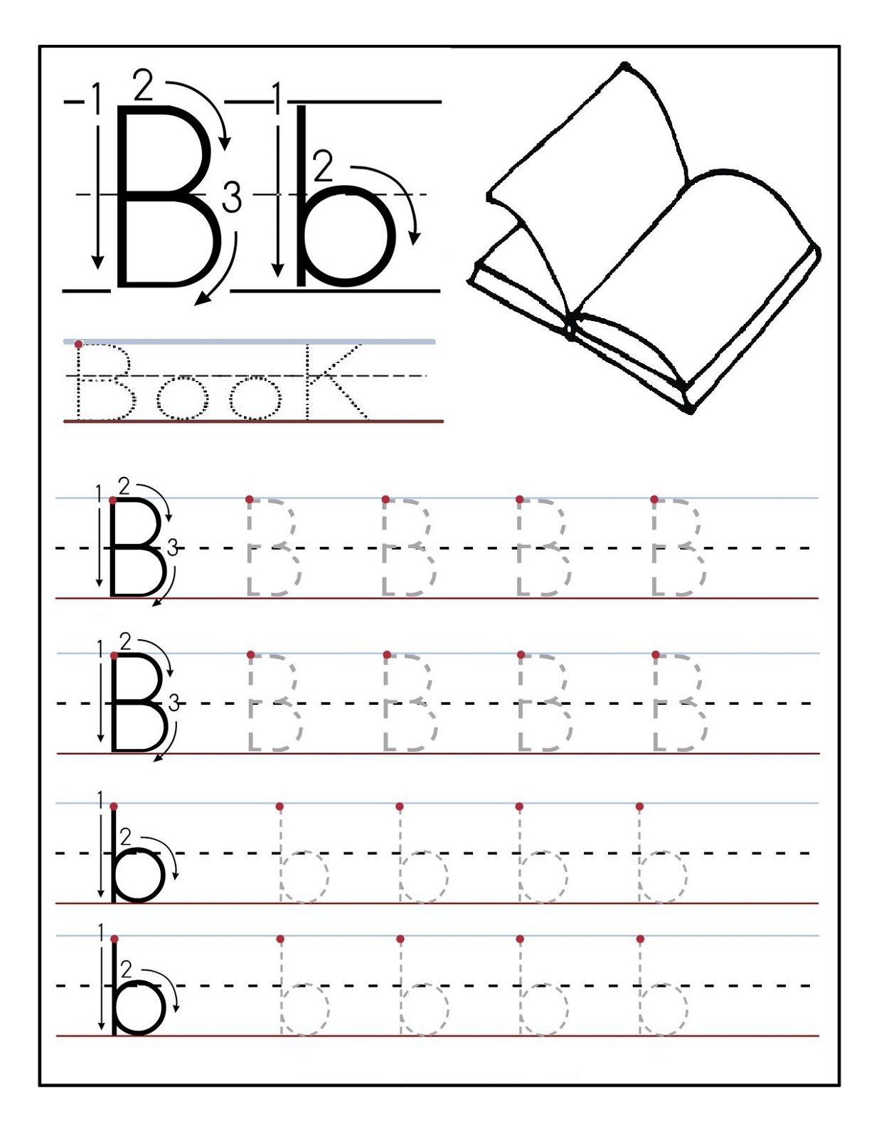 Library Of Alphabet Tracing Letter B Banner Royalty Free