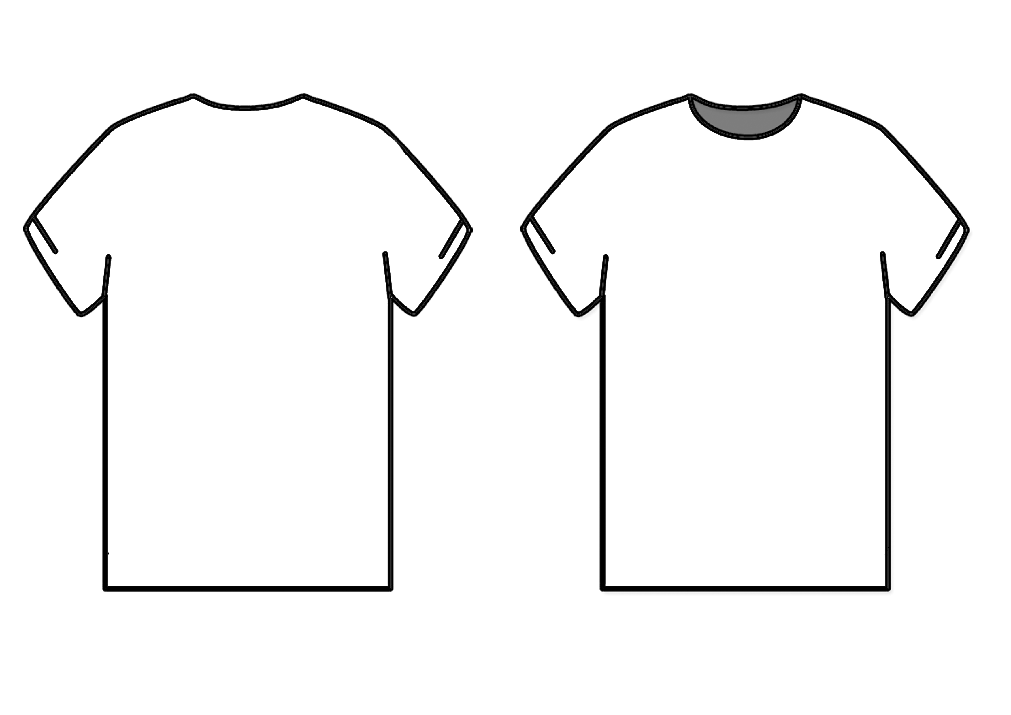 Library Of Tshirt Mockup Banner Black And White Stock