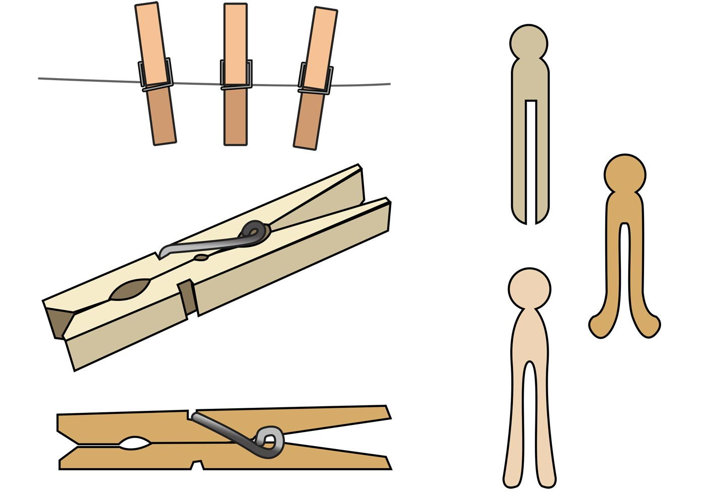 Library Of Clothespins Free Download Files Clipart