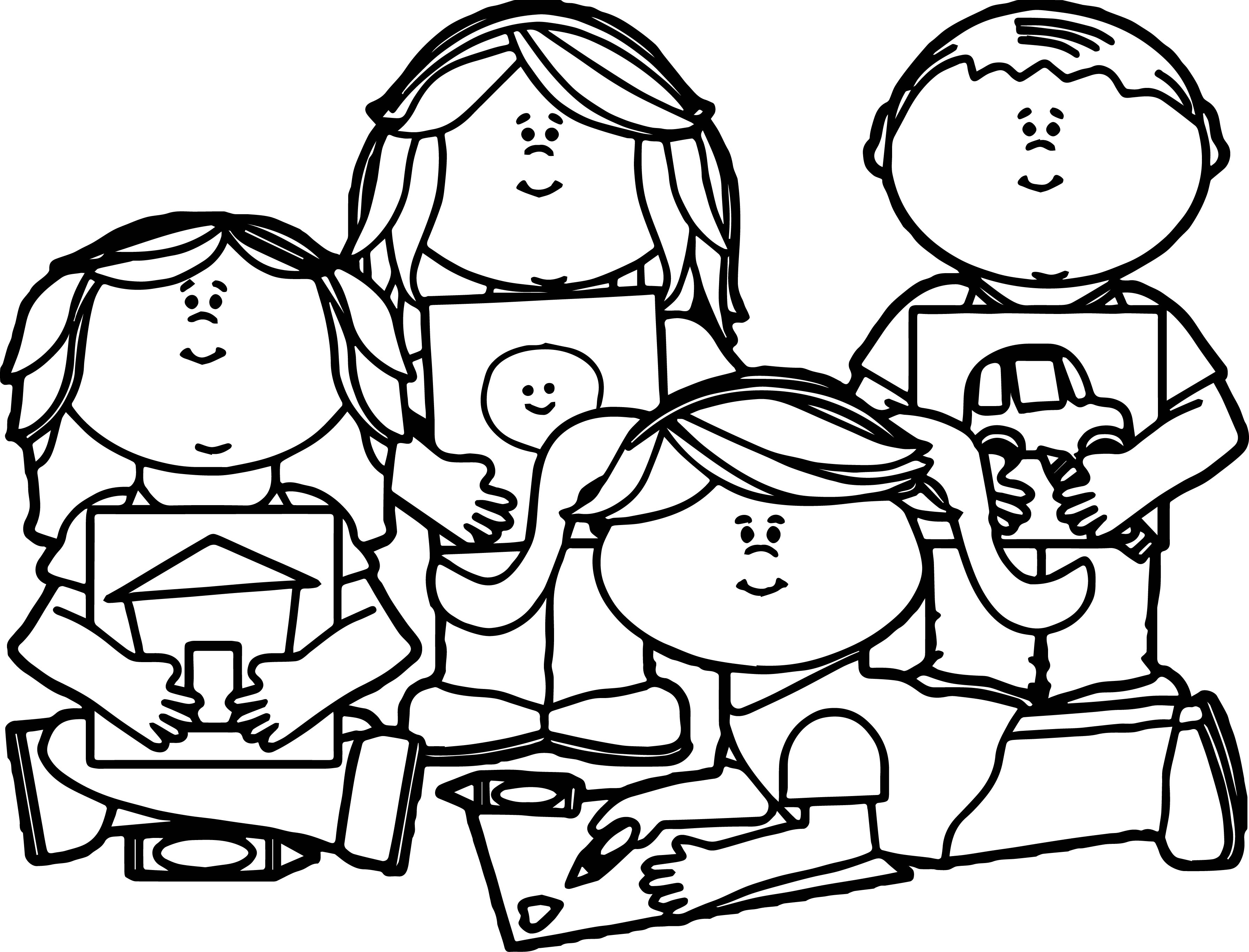 Library Of Coloring Pages For Kids Banner Black And White