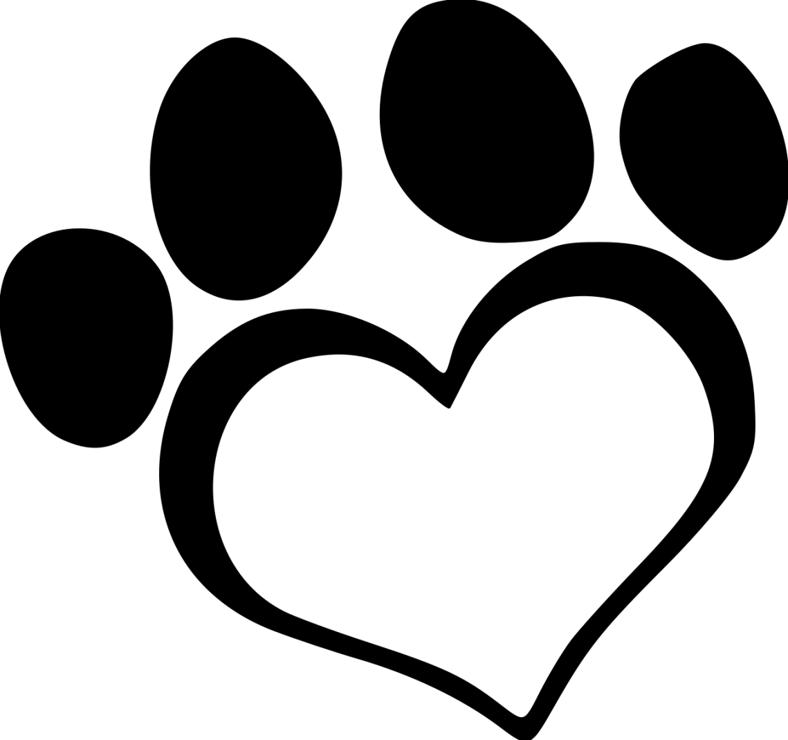 Download Library of dog paw heart svg free download png files ...