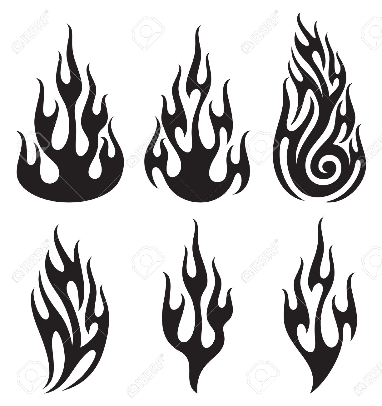 Library Of Free Black And White Flame Picture Library
