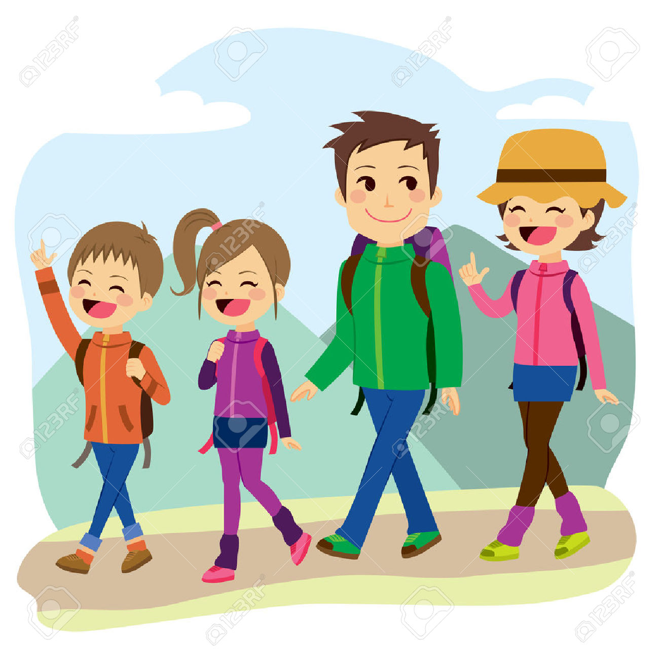 Library Of Kids Hiking Transparent Stock Files