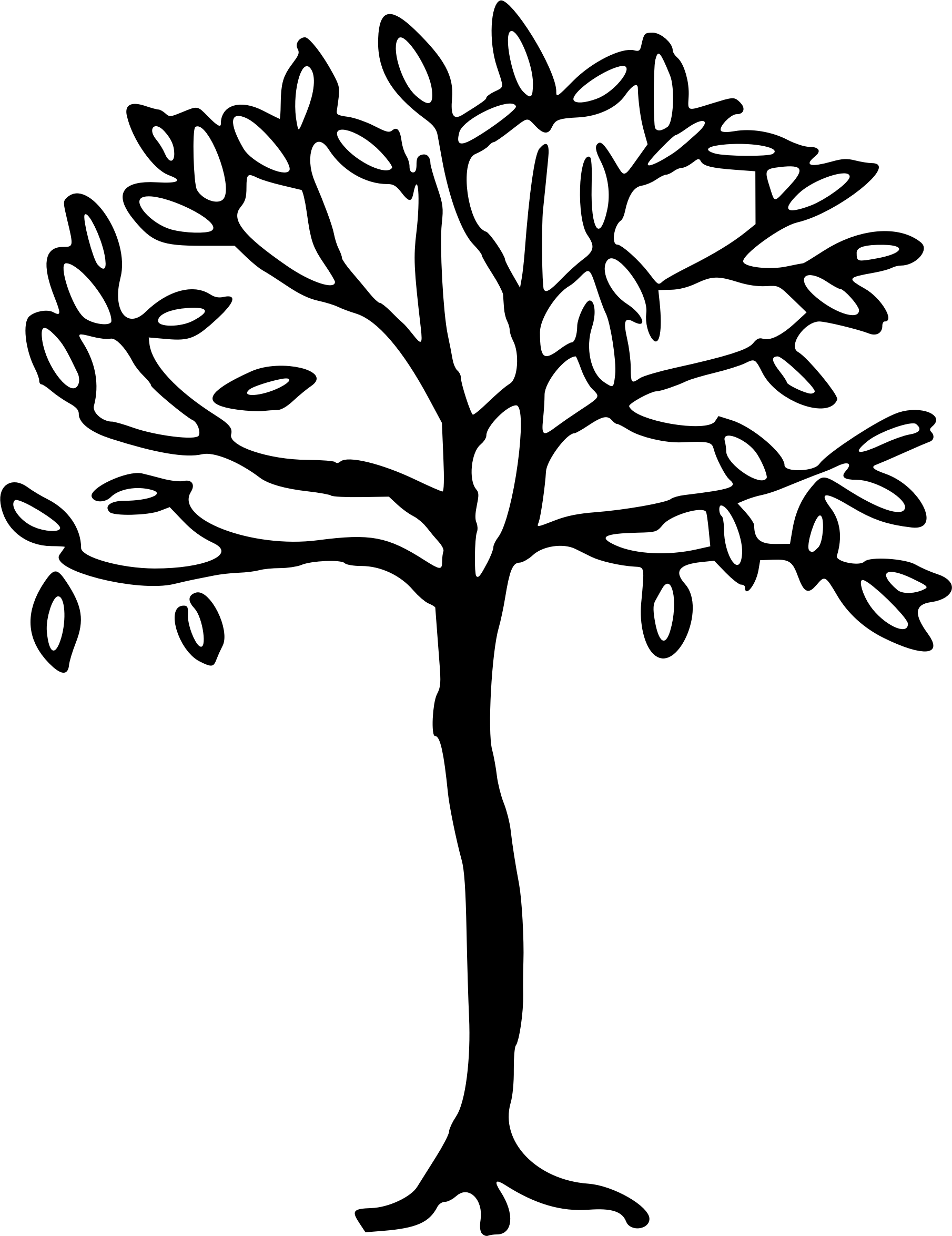 Library Of Simple Tree Graphic Library Download Black And