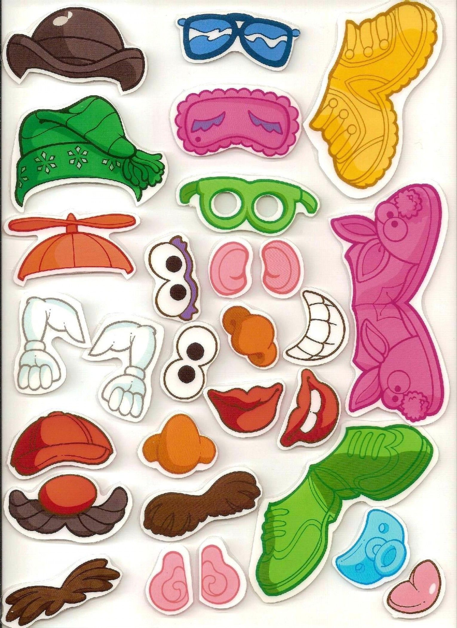 Library Of Mr Potato Head Body Parts Banner Library