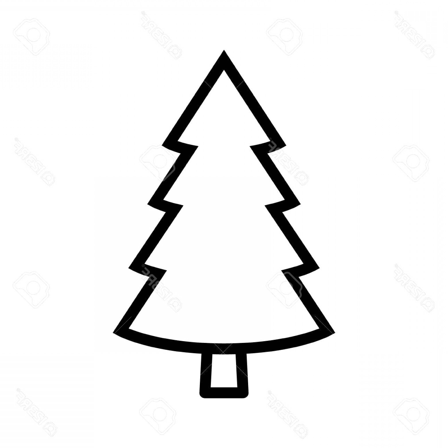 Library Of Stylized Pine Tree Svg Black And White Library